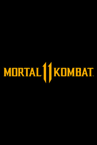 Mortal Kombat 11 Logo Dark Black 8k