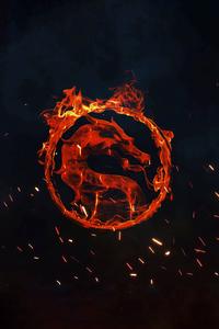 1080x1920 Mortal Kombat Fire Logo 4k