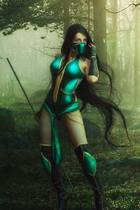 1080x2160 Mortal Kombat Jade Cosplay 4k