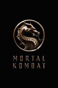 800x1280 Mortal Kombat Movie Logo 5k