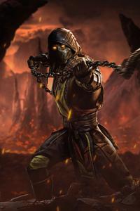 1440x2560 Mortal Kombat Scorpion 5k