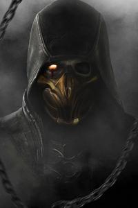 1440x2960 Mortal Kombat Scorpion Darkness 4k