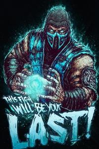320x480 Mortal Kombat Sub Zero 5k