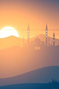 Mosque Minimalism 4k
