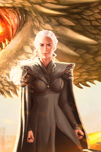720x1280 Mother Of Dragons Fanart