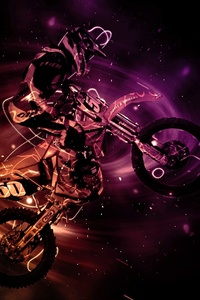 320x568 Motocross Bike Artistic