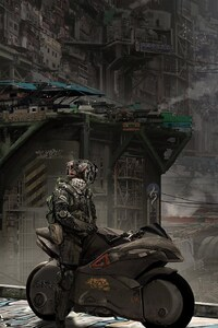 720x1280 Motorcycle Science Fiction