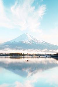 Mount Fuji Blue Bright Day 4k