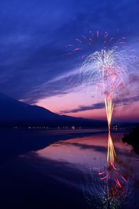 Mount Fuji Fireworks Japan 5k
