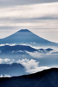 Mount Fuji Landscape Clouds