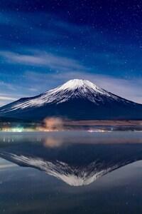 Mount Fuji Night Reflections