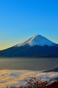 360x640 Mount Fuji Sunrise 5k