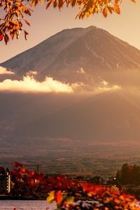 1440x2560 Mount Fuji Volcano Morning 5k