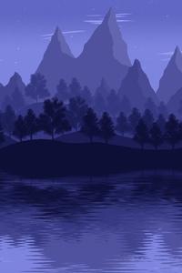 Mountain Lake Landscape 4k