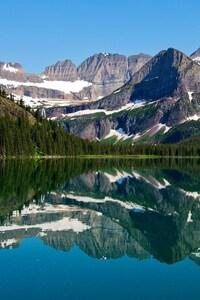 640x1136 Mountain Lake Reflections