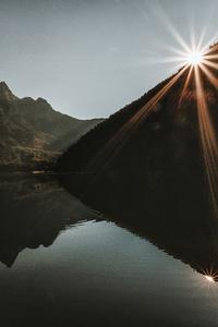 Mountain Landscape Dawn Lake Reflection 5k