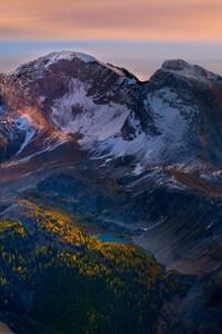 320x480 Mountain Peaks Beautiful Scenery