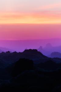 720x1280 Mountain Range Scenery Peak Iceand Flare Light 5k