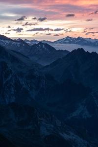 2160x3840 Mountain Ranges Horizon Fog 5k