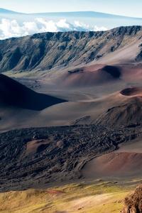 Mountain Ridge Volcanic Rocks 4k