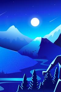 800x1280 Mountain Scenery Minimal