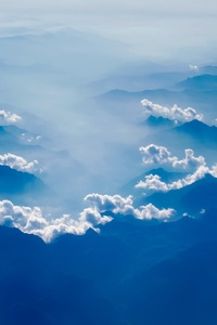 Mountains Countryside Fog Clouds Haze Sky Sunrise