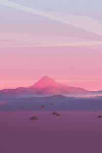 Mountains Grids Polygon 4k