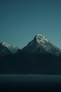 Mountains Landscape Dark Nature 4k