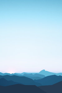 Mountains Landscape Minimalism 5k