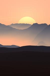 480x800 Mountains Landscape Sunset 5k