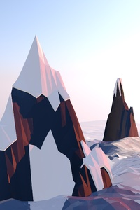 Mountains Lowpoly
