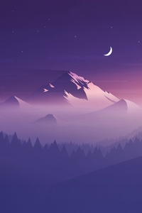 320x480 Mountains Minimalists 4k