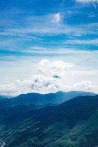 Mountains Peaks Clouds 4k