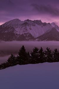 2160x3840 Mountains Peaks Fog Morning 4k