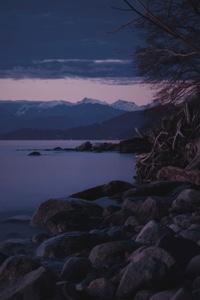 Mountains Sea Rocks