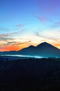 240x320 Mountains Sky Bali Sunrise