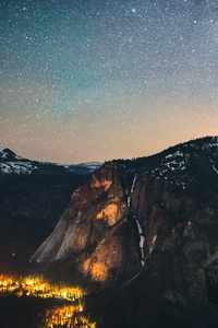 1242x2688 Mountains Sky Stars 5k