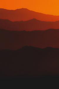 1440x2960 Mountains Steps Sunset 5k