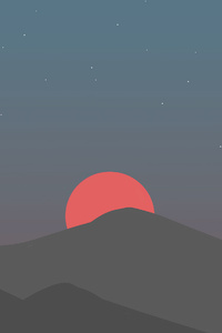 240x320 Mountains Sunset Minimal 4k