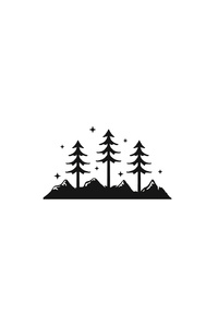 Mountains Trees Minimalism