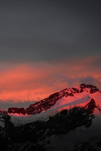 Mountians Landscape Sunset 8k