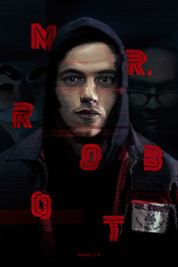 1125x2436 Mr Robot Fan Art