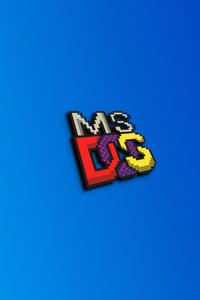 640x1136 Ms Dos Logo 4k