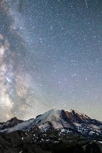 1280x2120 Mt Rainier Under The Nights Sky 5k