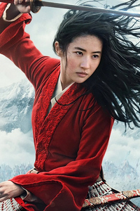 1242x2688 Mulan 2020 Movie