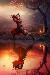 1242x2688 Mulan Movie 2020 Poster