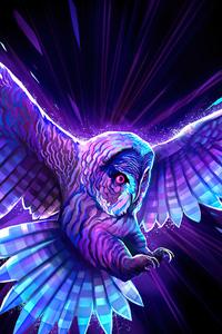 1125x2436 Multicolor Owl 5k