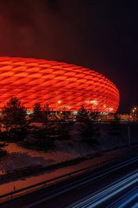 1242x2688 Munich Football Stadium At Night