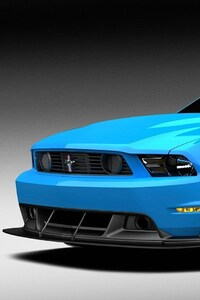 480x854 Muscle Blue Car