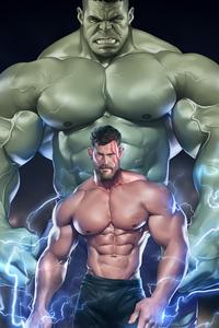 240x320 Muscular Thor 5k
